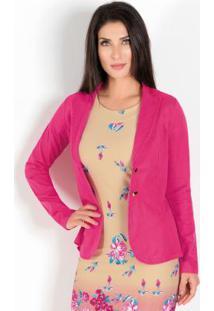 Blazer Clássico Rosa Moda Evangélica