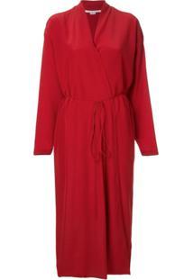 Stella Mccartney Vestido Envelope Midi - Vermelho