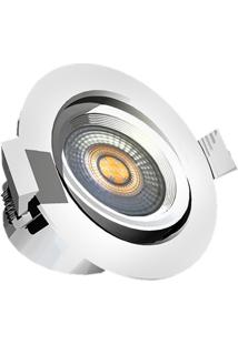Spot Led De Embutir Redondo Ultraled 6W Bivolt 6500K Luz Branca