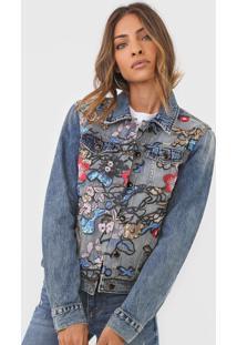 Jaqueta Jeans Desigual Brookly Azul - Azul - Feminino - Algodã£O - Dafiti