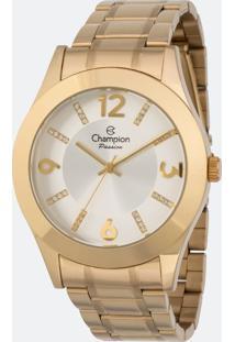 Kit Relógio Feminino Champion Cn28713D Analógico + Conjunto Semijóia
