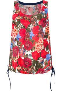 Marni Blusa Floral - Vermelho