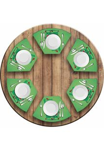 Jogo Americano Love Decor Para Mesa Redonda Wevans Cute Noel Green Kit Com 6 Pçs
