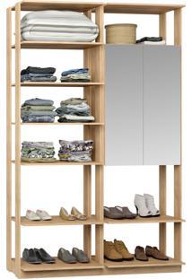 Closet 2 Portas Espelhadas 9012 Carvalho - Bentec