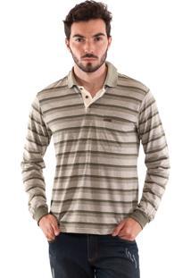 Camisa Polo Konciny Listrada Musgo