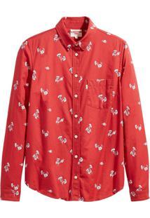 Camisa Levis Modern One Pocket Vermelho