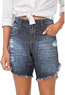 Bermuda Jeans Colcci Boyfriend Tita Azul