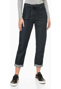 Calça Jeans Feminina Mom Cintura Alta Azul Marinho Calvin Klein - 40