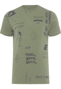 Camiseta Masculina All Over Move On - Verde