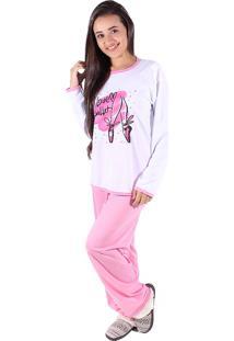 Pijama Linha Noite Longo Rosa - Tricae