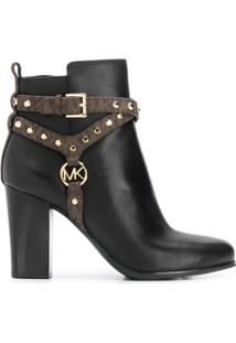 Michael Michael Kors Studded Ankle Boots - Preto