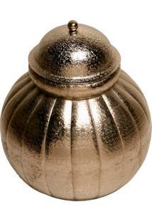 Vaso Decorativo De Metal Gourde