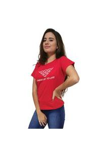 Camiseta Feminina Cellos Mosaico Premium Vermelho