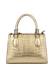 Bolsa Pequena De Couro Bellaniz Andressa Dourada