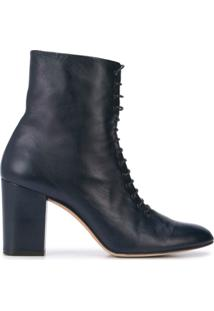 Jill Stuart Lace-Up Ankle Boots - Azul