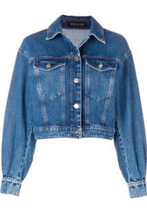 Sport Max Code Cropped Denim Jacket - Azul