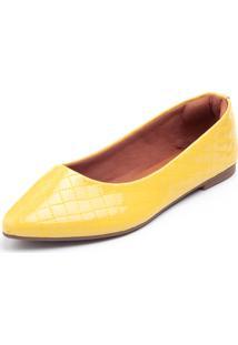 Sapatilha Scarpana Bico Fino Amarelo