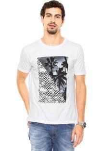 Camiseta Vr Folhagem Branca