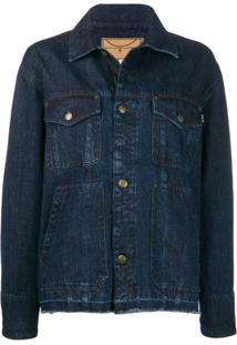 Mcq Alexander Mcqueen Jaqueta Jeans Earth Force Sound - Azul