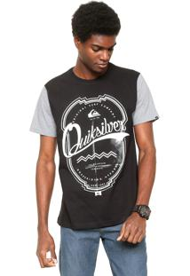 Camiseta Quiksilver Brasão Preta