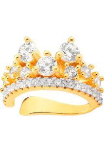 Brinco Piercing Lady Cristais Banhado A Ouro 18K - Tricae