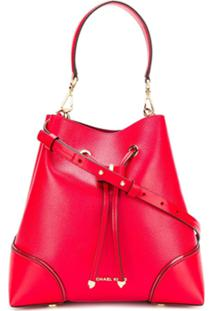 Michael Michael Kors Medium Pebbled Shoulder Bag - Vermelho
