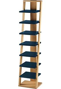 Estante Prateleira Suspensa Stairway Maxima Palha/Azul Noite