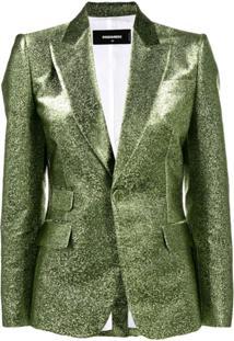 Dsquared2 Blazer Slim Metalizado - Verde