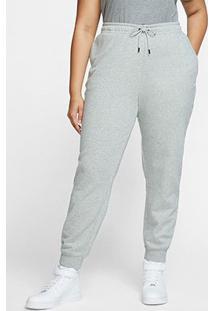 Calça Nike Nsw Sportswear Essential Plus Size Feminina - Feminino-Cinza+Branco