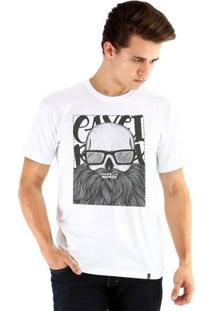 Camiseta Ouroboros Manga Curta Caveira Barbuda - Masculino