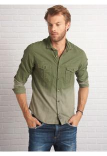 Camisa John John Stanley Verde Masculina Camisa Stanley-Verde Militar-M