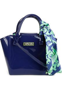 Bolsa Petite Jolie J-Lastic Shape Bag Feminina - Feminino-Azul+Verde