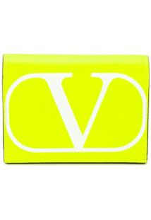 Valentino Garavani Porta-Moedas Vring - Amarelo