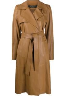Federica Tosi Trench Coat Com Cinto - Marrom