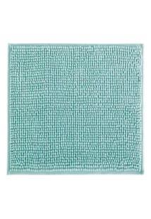 Tapete De Banheiro Antiderrapante Bolinha Microfibra Verde