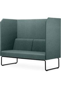 Sofa Privativo Pix Com Divisoria E Assento Mescla Verde Base Aco Preto - 55075 Sun House