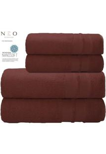 Toalha De Rosto Neo Allure- Bordã´- 45X80Cm- Camecamesa