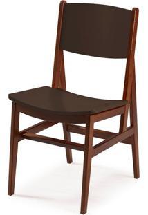 Cadeira Dumon Cor Cacau Com Marrom - 30791 - Sun House