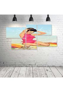 Quadro Decorativo - Retro - Composto De 5 Quadros - Multicolorido - Dafiti