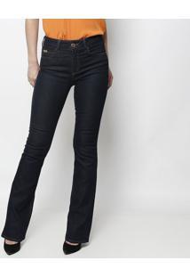 dfce6943da ... Jeans Boot Cut Com Pespontos - Azul Escurocolcci