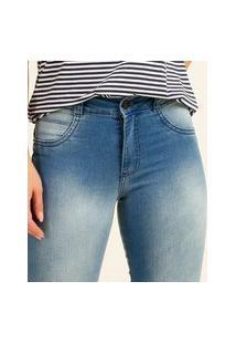 Calça Jeans Feminina Skinny Barra Desfiada Biotipo