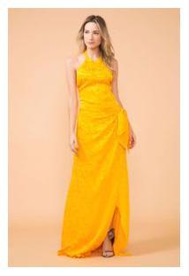 d358113a49ac ... Vestido Frente Unica Gola Alta Longo Amarelo Waikiki R$1998 ...