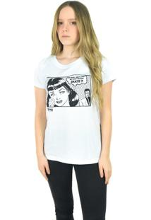 Camiseta Thrasher Magazine Boyfriend Branca