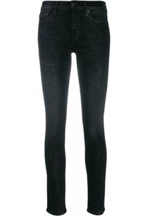 7 For All Mankind Calça Jeans Skinny - Preto