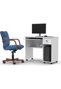 Mesa Computador Office Vicenza Branco Brilho - Lukaliam