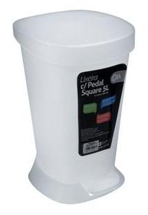 Lixeira Coza Com Pedal Square Em Polipropileno - 5 L