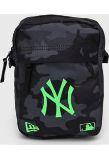 Bolsa New Era Shoulder Bag New York Yankees Cinza/Verde - Cinza - Dafiti