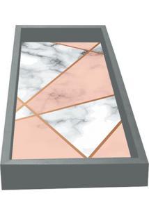 Bandeja Para Lavabo Geométrica- Cinza & Rosa- 3X30X1Kapos