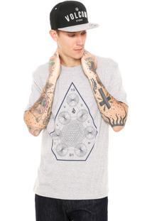 Camiseta Volcom Space Time Cinza
