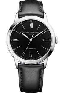 Relógio Baume & Mercier Masculino Couro Preto - M0A10453